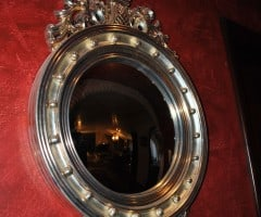 Antique mirror with silver leaf